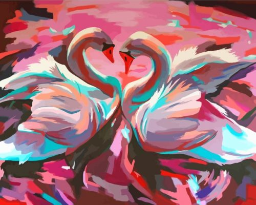 Swans Birds Art Paint by numbers