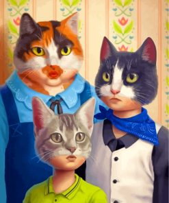 The Cats Family Paint by numbers