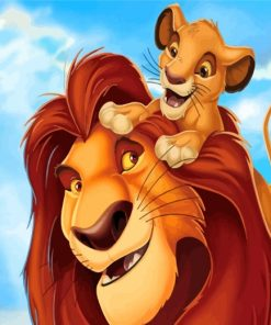 The Lion King Paint by numbers