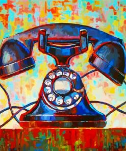 Vintage Phone Paint by numbers