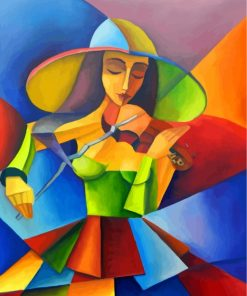 Violinist Woman Art Paint by numbers