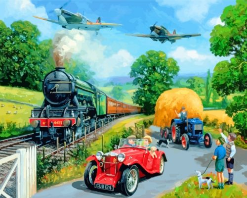 Wartime Summer Paint by numbers