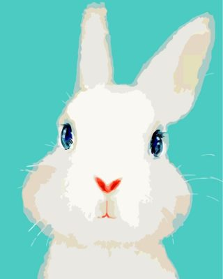 White Rabbit Paint by numbers