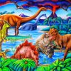 Wild Dinosaurs Paint by numbers
