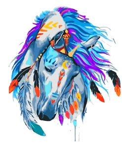 aesthetic-colorful-horse-paint-by-numbers