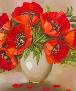 aesthetic-vase-of-poppy-flowers-paint-by-numbers