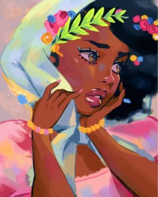 beautiful-black-lady-paint-by-numbers