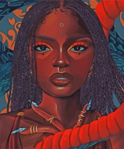 beautiful-black-woman-paint-by-numbers