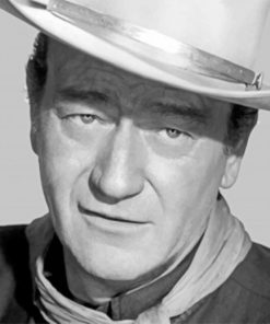 black-and-white-john-wayne-paint-by-number