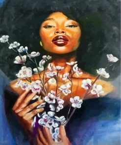 black-woman-and-flowers-paint-by-numbers