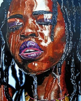 black-woman-paint-by-numbers