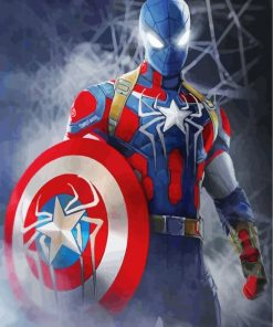 Captain America Spider Man paint by numbers