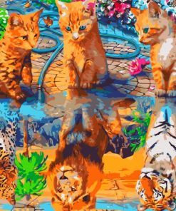cats-water-refletion-paint-by-numbers