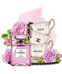chanel-perfume-and-bougie-cups-paint-by-numbers