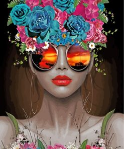 classy-floral-woman-paint-by-numbers