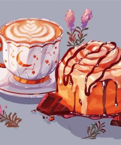 coffee-and-sweet-cake-with-chocolate-paint-by-numbers