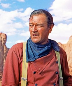 colored-john-wayne-paint-by-number
