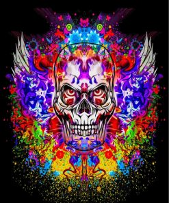 colorful skull-paint-by-numbers