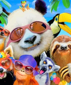 cool-animals-enjoying-the-summer-paint-by-numbers