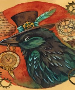 crow-steampunk-paint-by-numbers