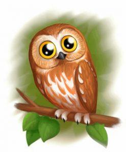cute-brown-owl-paint-by-numbers
