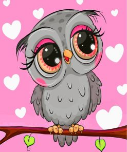 cute-grey-owl-paint-by-numbers