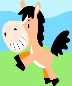 cute-horse-running-paint-by-numbers