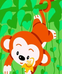cute-monkey-paint-by-numbers