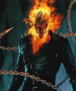 dangerous-ghost-rider-paint-by-numbers