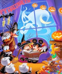 Disney Halloween Paint by numbers