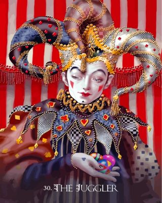 Divine Circus Oracle Deck Paint by numbers