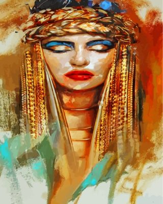 egyptian-woman-paint-by-numbers