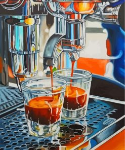 Espresso Coffee Machine Paint by numbers