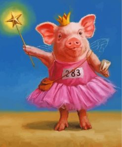 fairy-pig-paint-by-numbers