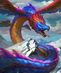 feathered-serpent-paint-by-numbers