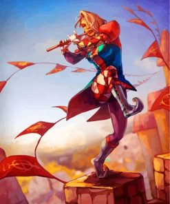 Female Bard Paint by numbers