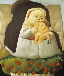 fernando-botero-madonna-with-child-paint-by-numbers