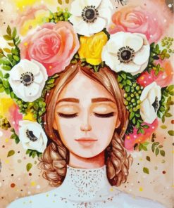 floral-lady-paint-by-numbers