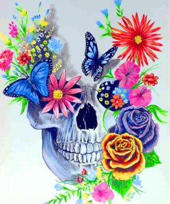 floral-skull-paint-by-numbers