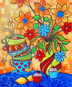 flowers-and-cups-paint-by-numbers