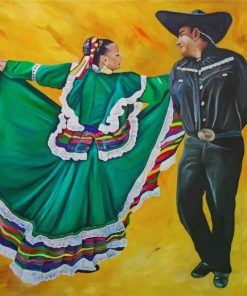 Folklorico Dancers Paint by numbers