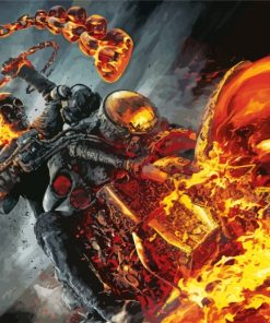 ghost-rider-paint-by-numbers