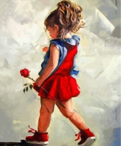 girl-holding-a-rose-paint-by-numbers
