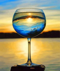 glass-cup-and-sunset-paint-by-numbers