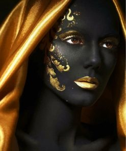 golden-black-woman-paint-by-numbers
