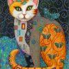 gustav-klimt-cat-paint-by-numbers