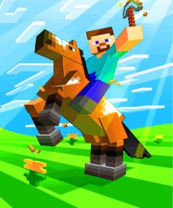 horseman-minecraft-paint-by-numbers