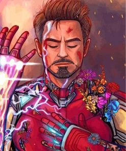 Iron Man Marvel Paint by numbers