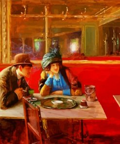 Jean Beraud At The Cafe Paint by numbers