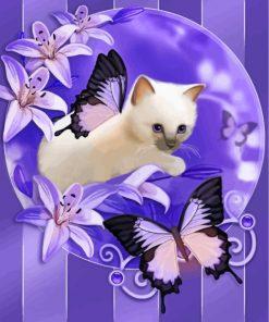 kitten-with-purple-butterflies-paint-by-numbers